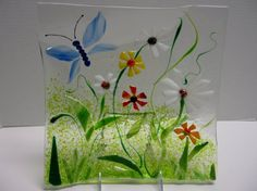 Fused Glass Butterflies With Flowers - Yahoo Image Search Results