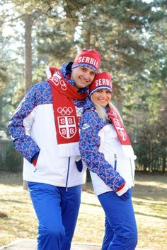 Serbia, Sochi 2014  Am I the only one out there who desperately wants knitting patterns for almost all the scarves I saw in the Sochi opening ceremony?