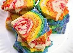 The quick and easy way to make rainbow bread! Making for the kids lunch!!! This incredibly awesome rainbow sandwich loaf starts easily with refrigerated bread dough!