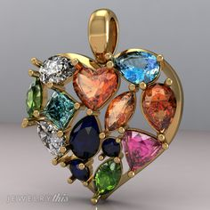 3D Jewelry Design: General Pendant, Mother's Day, Valentine's Day, Heart style [2549-98487] » Jewelrythis