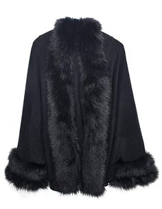 Looking for Dahlia Women's Faux Fur Poncho/Cape Trimmed Collar, Hood, Cuffs ? Check out our picks for the Dahlia Women's Faux Fur Poncho/Cape Trimmed Collar, Hood, Cuffs from the popular stores - all in one. Winter Poncho, Faux Fur Collar Coat, Fur Coat, Mode Mantel, Ladies Poncho, Winter Stil, Vintage Coat, Fashion 2018, 1950s Fashion