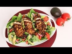 Spicy Grilled Chicken Salad with Avocado - Laura Vitale - Laura in the Kitchen Episode 595 - YouTube
