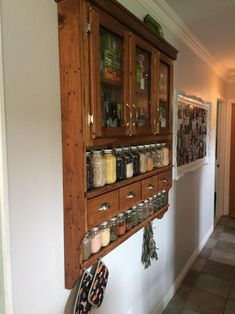 Custom Spice Pantry Spice Rack Collectors display with image 1 Home Decor Kitchen, Kitchen Design, Design Bathroom, Bathroom Ideas, Kitchen Decorations, Kitchen Layout, Bathroom Interior, Painted Hutch, Whale Decor