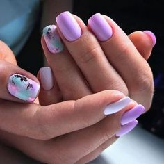 Heat Up Your Life with Some Stunning Summer Nail Art Cute Nails, Pretty Nails, My Nails, Mettalic Nails, Semi Permanente, Nail Photos, Minimalist Nails, Foil Nails, Best Acrylic Nails