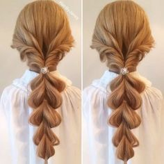 LOVE this idea from @hairbyjaney . Pull-throughs all over the place and it looks fabulous!
