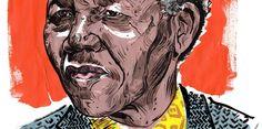 Homenaje a Mandela (Ilustración) / En este día hace 25 años Nelson Mandela fue finalmente liberado de la prisión en Sudáfrica. Salió un hombre frágil viejo,