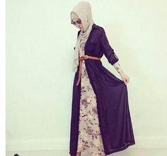 Love the long cardigan over maxi dress!