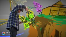 Starting to block out some plants as we recreate a virtual Botanic Garden. Really excited about being part of a big team including students from FIT painting the New York Botanical Gardens in Virtual Reality. Sponsored by Montefiore Medical Center fine arts program