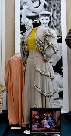 """Judy Garland's and Margaret O'Brien's dresses from """"Meet Me in St. Louis"""" - not that I would ever, ever wear it..."""