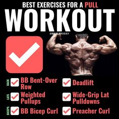 What are push pull workout plans? They're simple but effective ways to get a balanced workout. Discover the 2 best push n pull workout routine to create a balanced body. Gym Workout Chart, Full Body Workout Routine, Gym Workout Tips, Tabata Workouts, Weight Training Workouts, Biceps Workout, Workout Schedule, Workout Plans, Workout Routines