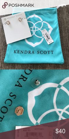 Kendra Scott earrings Logan studs in Rose Gold. Does not come with the original cardboard back. It somehow got thrown away but it's hooked to a necklace one. Tax and all was $50. No low ball offers accepted. These have been worn maybe twice. Kendra Scott Jewelry Earrings