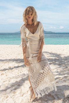 Pretta Crochet: Vestido longo de crochet (Long Dress of Crochet)
