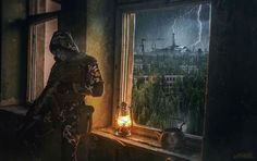 STALKER was an open world survival horror FPS with RPG and tactical elements. Apocalypse Landscape, Apocalypse Art, Chernobyl, Cthulhu, Arte Ninja, Post Apocalyptic Art, Music Pics, Environment Concept Art, Military Art