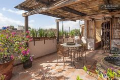 Roof top patio with entrance to casita #3. This casitas has direct access but is shared with the other casitas.