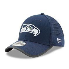 05e7f26f70f Men s Seattle Seahawks New Era Navy 2017 Training Camp Official 39THIRTY  Flex Hat