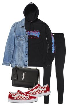 """Untitled"" by whoiselle ❤ liked on Polyvore featuring J Brand, Y/Project, Yves Saint Laurent and Vans"
