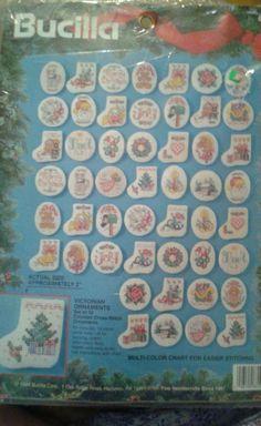 Bucilla Christmas VICTORIAN ORNAMENTS Cross Stitch #83104 Sealed #Bucilla #Ornaments