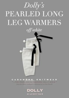 DOLLY by Le Petit Tom ® PEARLED LEG WARMERS off-white