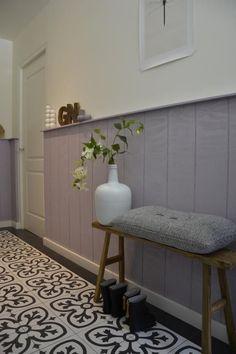 Afbeeldingsresultaat voor houten lambrisering wit