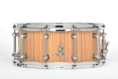 "14 x 6.5 BRADY Australian Cedar Wattle Block snare drum (Limited Edition ""Walkabout Series"" Natural satin finish)."