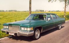 """""""The Emerald Goddess"""", a 1976 Cadillac Fleetwood Brougham d'Elegance - the longest Cadillac ever made."""