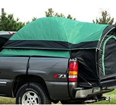 "Got a truck? You've got a camper! Give a whole new meaning to the term ""truck bed""! The Guide Gear Compact-size Truck Tent deploys in minutes in pickup beds, providing a fast, comfortable shelter that gets you up off the gro Truck Tent Camping, Truck Bed Tent, Tent Camping Beds, Hiking Tent, Camping Gear, Pickup Camping, Camping List, Camping Stuff, Camping Equipment"