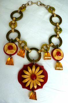 Assembled Bakelite Necklace