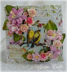 Gunn-Eirill`s Paper Magic: Flower and birds/DT Wild Orchid Crafts