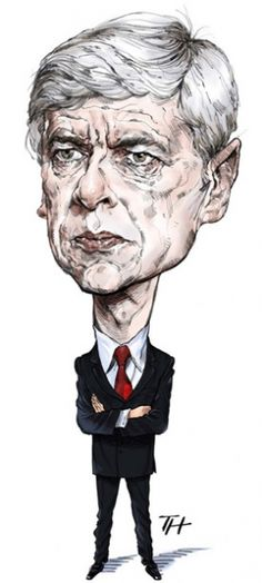 Love this caricature of Wenger. The architect of the change programme his vision included retaining and refurbishing Highbury, many other property deals, new medical facilities and state of the art training facilities. A true visionary.