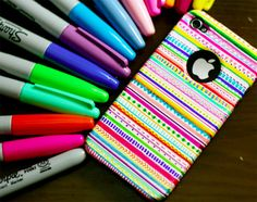 upgrade your iphone case with sharpies!