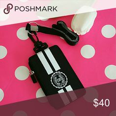 Beautiful Nwt Lanyard color Black. Brand new beautiful lanyard ID wallet.  Color Black.  Smoke and pet free home.  Fast shipping + extra gift.  SHIPPING SAME-DAY / NEXT DAY  I don't trade hun  .  Lowest 20 PINK Victoria's Secret Accessories Key & Card Holders