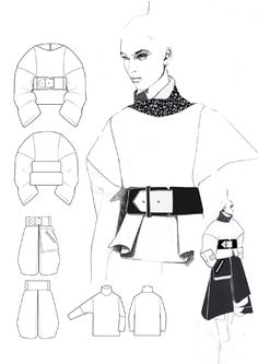 Fashion Portfolio - fashion design drawings; collection development; fashion illustration; fashion sketchbook // Andrew Voss