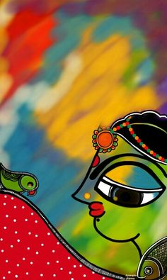 Madhubani fusion ....by Aparajita sharma