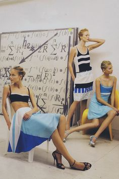 """Reblogged from supernovered. """"The Chic of New""""—featuring Natasha Poly, Raquel Zimmermann, and Hana Soukupova (wearing Narciso Rodriguez)—photographedby Steven Meisel for Vogue (January 2005)."""