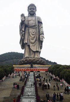 Bronze Statue of Lingshan Grand Buddha an Attraction