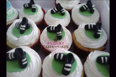 Soccer shoes Cupcakes - Cake by SUGARScakecupcakes - CakesDecor Volleyball Cookies, Soccer Cupcakes, Soccer Ball Cake, Shoe Cupcakes, Fondant Cupcakes, Cupcake Cakes, Cup Cakes, Fondant Toppers, Cupcake Toppers