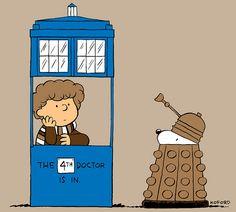 Snoopy would make such a cute Dalek <3