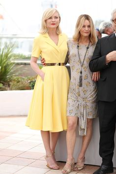 2016 Cannes Film Festival - Kirsten Dunst in Dior Haute Couture and Vanessa Paradis at the Jury photocall. Photo: Andreas Rentz/Getty Images.