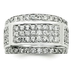 Sterling Silver Diamond Men's Ring SKU: QGQR3350-10 $2183.99