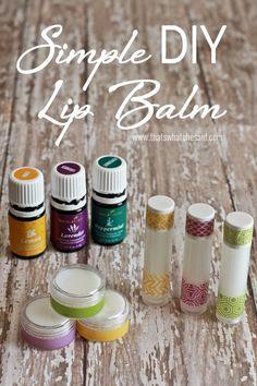 Simple DIY Lip Balm Recipe