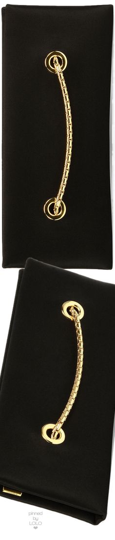TOM FORD Satin Chain Clutch Bag, Black | LOLO❤︎