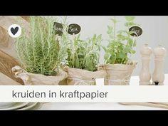 kruidenplant in kaftpapier   diy   vtwonen - YouTube