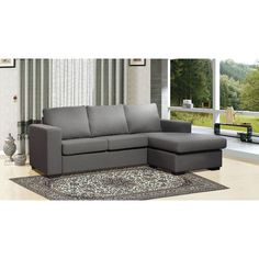 Thy-Hom Colton Reversible Chaise Sectional | AllModern