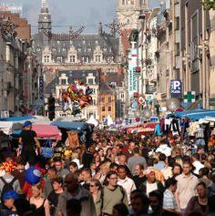 Braderie de Lille. Air France, Biarritz, City Art, Dolores Park, Street View, Travel, Christmas, Nord Pas De Calais, North Sea