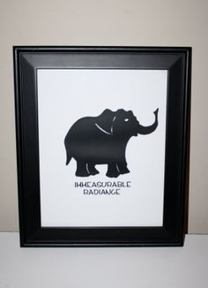 Digital Download - Immeasurable Radiance - Screen-Printed Elephant