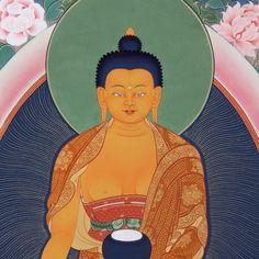 Shakyamuni Buddha #TibetanArt by Tashi Dhargyal, www.facebook.com/TibetanArt instagram @TibetanArt
