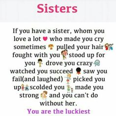 That I am. I love you, Seester!❤️