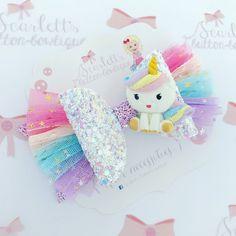 Image of Unicorn rainbow bow