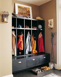 entry locker storage dark wood - Google Search