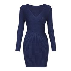 Yoins Dark Blue Body-con Jumper Dress